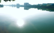 江面太阳 梅江秋色图片