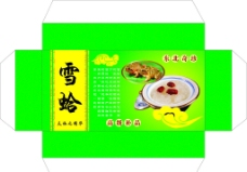 雪蛤包装盒图片