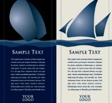 蓝色航海展板图片
