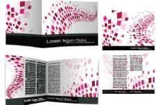 动感方形线条企业vi宣传册设计图片