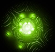 绿色渐变圆圈背景图片