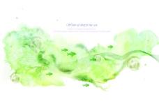 绿色墨痕背景素材