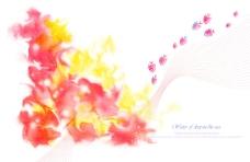 彩色手绘花朵背景素材