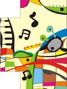 抽象米罗画墙面图片