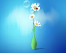 花朵 气泡 背景图片