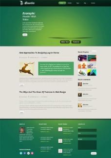 墨绿色视频首页模板图片
