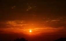 夕阳晚霞风景图片