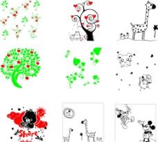 液体壁纸花草卡通图片