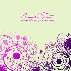 紫色海报 淘宝设计花纹