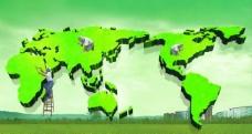 绿色版图图片