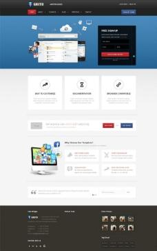 创意设计css3网页图片