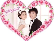 心形婚礼背景图片