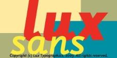 luxsans系列字体下载图片