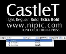 castlet系列字体下载图片