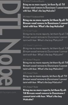 dtlnobel系列字体下载图片