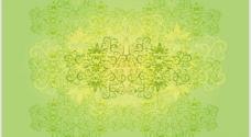 绿色树叶花纹 底纹图片