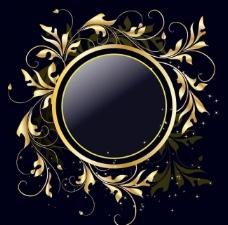 金色花纹图片