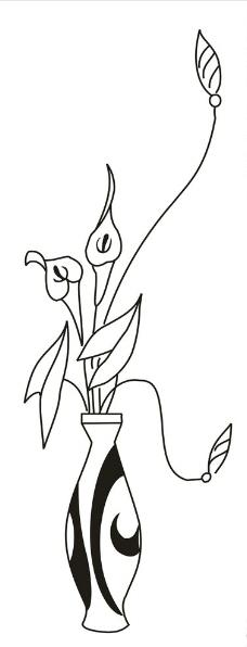 简笔画花瓶的步骤