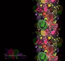 时尚树叶花纹底纹图片