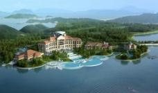 海边度假酒店环境效果图片