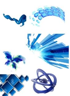 蓝色科技素材图片