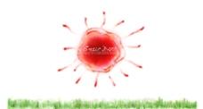 太阳创意插画设计图片