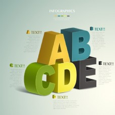 3d字母分类标签