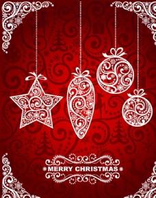 欧式花纹圣诞节背景