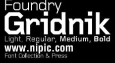 foundry gridnik系列字体下载图片
