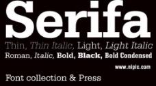 serifa系列字体下载图片
