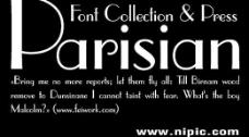 parisian系列字体下载图片