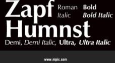 zapfhumanist系列字体下载图片