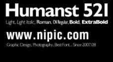 humanst 521系列字体下载图片