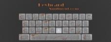 精致金属键盘按钮设计图片