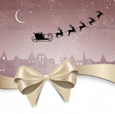 蝴蝶结 丝带圣诞背景