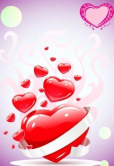 心形浪漫花纹图片