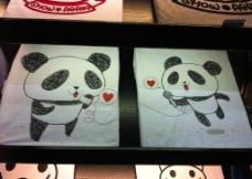 love 熊猫图片