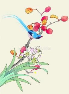 水墨畫 花卉寫生 植圖片