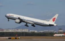 国航波音777客机图片