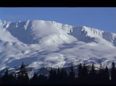 实拍雪山视频素材
