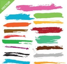 彩色颜料涂料图片