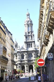 巴黎大街的风光图片