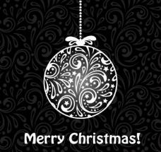 欧式花纹图案圣诞吊球图片