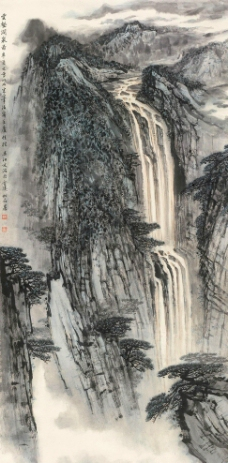 云壑涧泉图图片