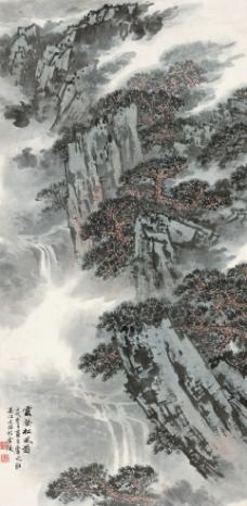 云壑松风图图片