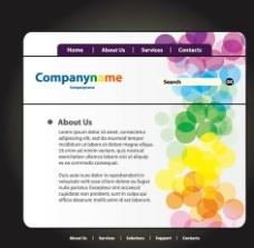 彩色网页模板图片