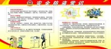 安全防盗展板图片