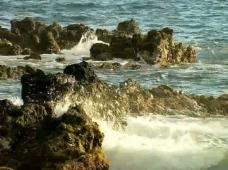 海浪礁石视频素材