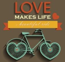 自行车矢量素材图片