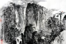溪山飞泉图片